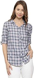 Campus Sutra Women Checkered Casual Spread Shirt