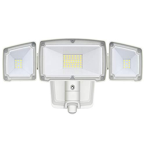Security Light, AmeriTop Dusk to Dawn Super Bright LED Flood Light Outdoor; 35W 3500LM LED Outdoor Lighting, ETL- Certified, Wide Angle Illumination, IP65 Waterproof, 6500K - White