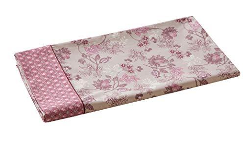 Blanc des Vosges Drap Decorum Bois de rose 180 x 290 cm - Percale 100% coton 80 fils/cm²