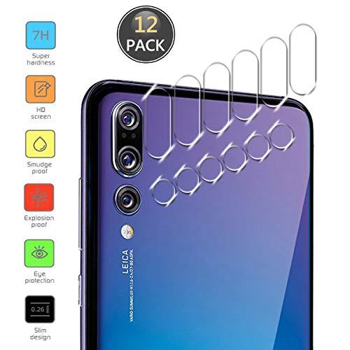 Owbb [12 Stück] Kamera Linse Schutzfolie Für Huawei P20 Pro Smartphone Full Coverage Schutz High Transparent 7H Härte Zurück Camera Film