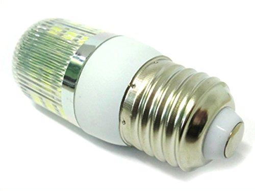 LEDLUX LC2701C Lampadina LED E27 12V 24V 4W 27 SMD 5050 Per Officina e Pannello Fotovoltaico Solare Luce Caldo