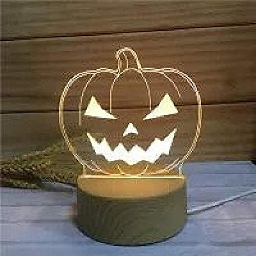 wangzj Luces de noche Luces de interior Lámpara de noche Luces de habitación-Linterna de calabaza 3D Pequeño regalo Lámpara de ambiente Lámpara de mesilla de noche
