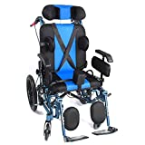 FTFTO Home Accessories Elderly Disabled Elderly Manual Wheelchair - Foldable Wheelchair - Adjustable Armrests and Pedals - for Elderly Disabled Medical Device Auxiliary