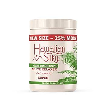 Hawaiian Silky no lye relaxer super White 20 Ounce