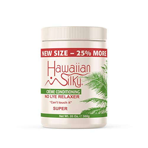Hawaiian Silky no lye relaxer, super, White, 20 Ounce