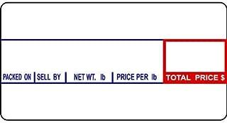 CAS LST-8000 Printing Scale Label, 58 x 30 mm, Non-UPC, 12 Rolls Per Case