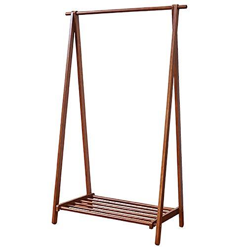 Tree Coat Rack Stand Piso suspensión del almacenaje Percha Perchero Hogar Grande Plegable de Madera sólida del Perchero Percha de Ropa (Color : Brown, Size : 98x45x155cm)