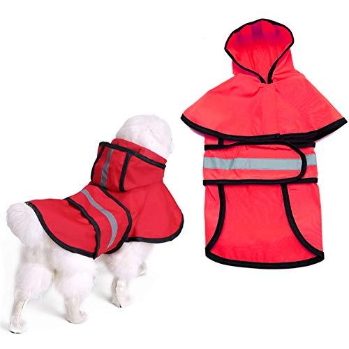 Hond Jassen Waterdicht Hond Rain Jacket Hond Regenjas Met Kap Hond Regenjassen Waterdicht Met Kap Hond Jassen Waterdicht En Warm red,4xl