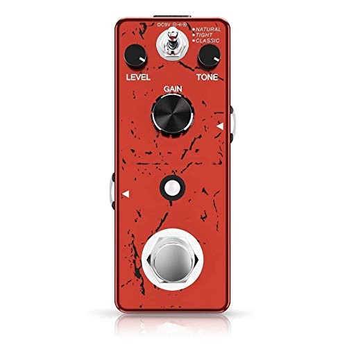 Lwieui Guitar Effects High Gain Distortion Guitar Effect Pedal 3 Working Modes With Volume Tone Gain Controls True Bypass Full Metal Shell Distortion & Overdrive (Color : Red, Size : 9.5x 4x 3.5cm)