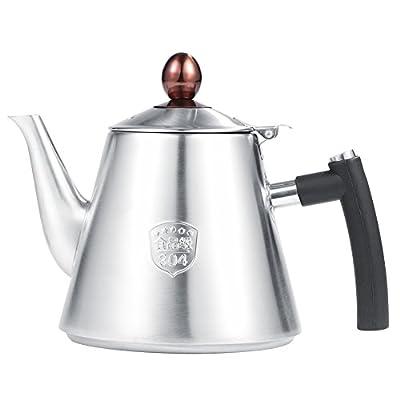 1.2L en acier inoxydable bouilloire à thé Pot de café, DE Thé sifflante Théière Poignée en silicone résistant à la chaleur