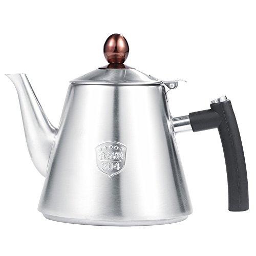 OKBY Teekanne Edelstahl Wasserkocher Herd - Kaffee 1.2l Top Tee Kaffeekanne Hitzebeständig Griff Poliert (Color : Matte)