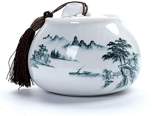 Crematieas opbergdoos Urn for AdultCeramic Vochtbestendige Crematie Urn for een volwassene of Pet Memorial Burial Tuin Urnen for Ashes (Kleur: A, Maat: Large), Maat: Medium, Kleur: B As herinnering op
