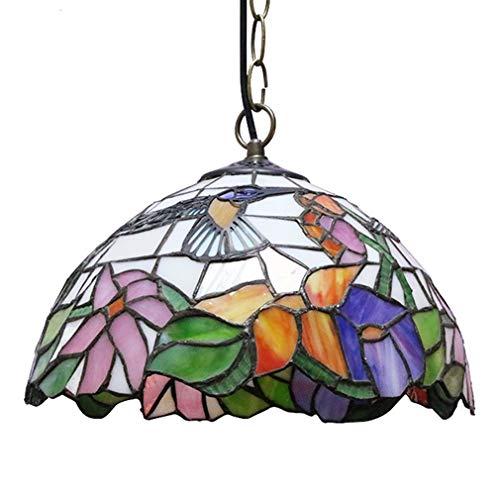 Tiffany Pendelleuchte Höheverstellbar Retro Hängelampe Vintage Deko Leuchte E27 Glas Lampen Esstisch Esszimmer Kronleuchter Küchenlampen Wohnzimmerlampe Hängeleuchte Schlafzimmer Keller Loft Cafe Bar