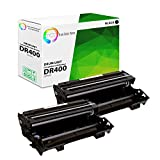 TCT Premium Compatible Drum Unit Replacement for Brother DR-400 DR400 Black Works with Brother DCP-1200 1400, HL-1240DX, MFC-8300 P2500 P2500T, IntelliFax-4100 4100E Printers (20,000 Pages) - 2 Pack