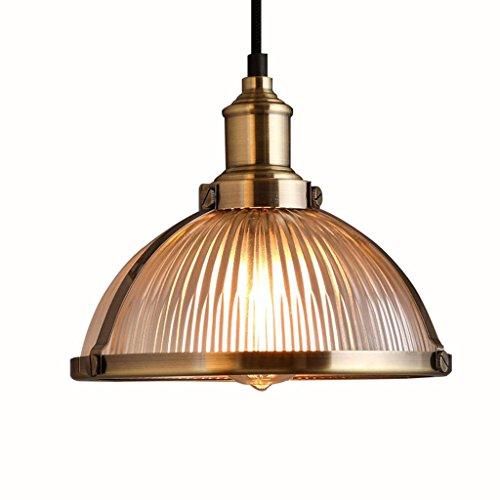 Lámpara de techo de cristal americano, diseño retro con cabeza de Single