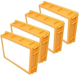 HQRP HEPA Filter 4-Pack for Eureka Boss SmartVac 4870 4870MZ 4870SZ 4870T 4870SZX 4870D 4870RZ 4870GZX 4870HZ 4870HZ-1 4870HZX 4870J 4870J-1 4870K 4870KE Upright Vac Vacuum Cleaner Coaster