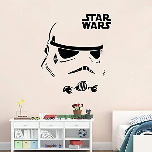 Pegatinas de pared de la guerra estrella pegatinas de la sala de estar de la sala de estar etiquetas adhesivas de decoración 73.5 * 57cm