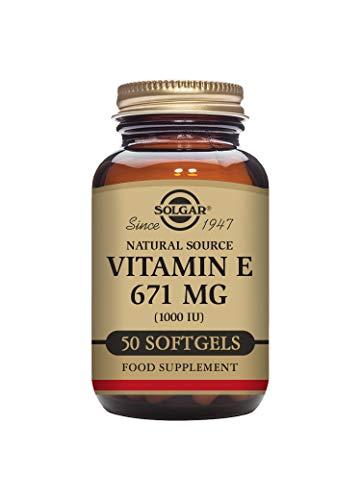 Solgar Vitamin E 671 mg (1000 IU) Softgels - Pack of 50