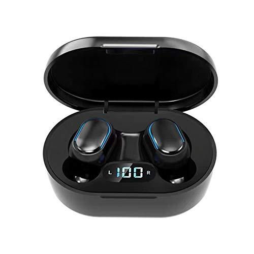Rpanle Auricolari Bluetooth 5.0 Senza Fili, Ear-in Cuffie con Display LCD Custodia di Ricarica Portatile, IPX5 Impermeabile, Mic-Incorporato, per Correre, Andare in Bicicletta Nero