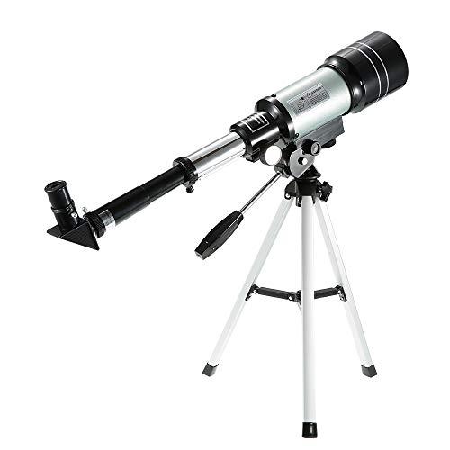 Telescopio astronómico Espacial refractivo Monocular F30070M Telescopio para Exteriores 150X Travel Hunt Spotting Scope con trípode portátil