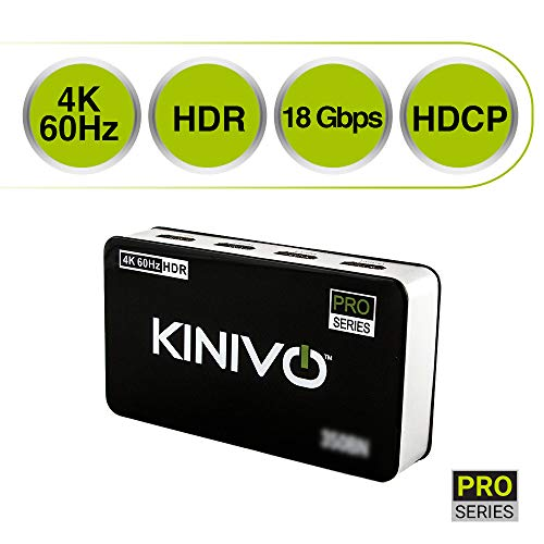 Kinivo 301BN -  Conmutador HDMI de alta velocidad con 3 puertos y control...