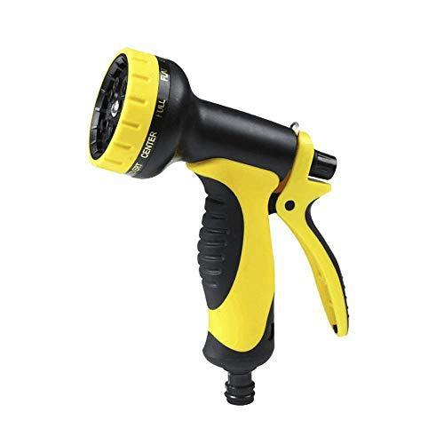 ZTMN Gartenwasserpistole 10 Funktion Gartenwasserpistole Anti-Rutsch-Design Komfortabler Griff Autowaschanlage Wasserblumen Gelbe Gartenschlauch-Spritzpistole (Farbe: Gelb, Größe: Einheitsgröße)