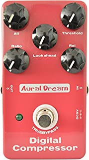 Aural Dream Compressor Guitar Effect Pedal including Stompbox and Studio compressor with Balance Dynamic Output True Bypass