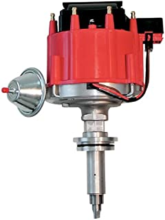 Proform 67081 Vacuum Advance HEI Distributor with Steel Gear and Red Cap for Chevy Inline 6-Cylinder
