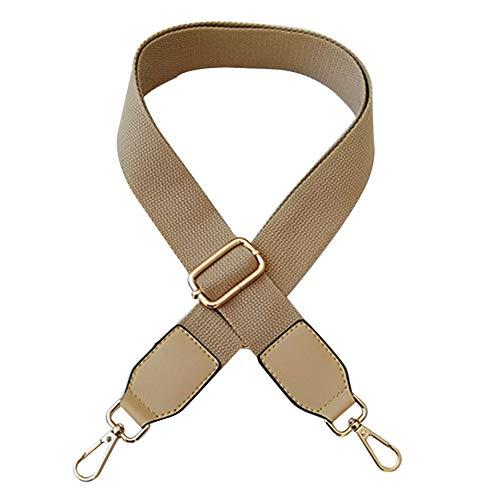 MoreChioce Damen Taschengurt Khaki,Verstellbar Schultergurt Breit Taschengriffe für Handtaschen Schulterriemen Umhängegurt mit Karabinerhaken