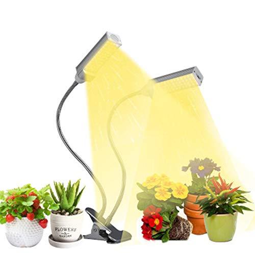 LED Pflanzenlampe Pflanzenlicht Pflanzenleuchte 96 LEDs Wachstumslampe mit Zeitfunktion, 10 Heillgkeitsstufen Wachsen licht Pflanzenlichter für Zimmerpflanzen Gartenarbeit Gewächshaus