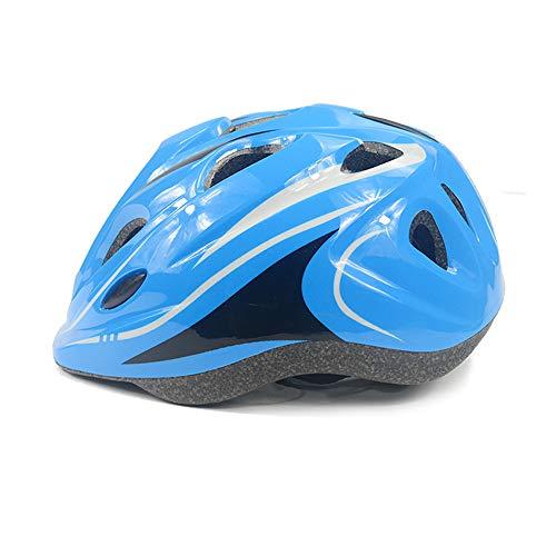 DAZISEN Kinder Outdoor Fahrradhelm - Skating Mountainbike Reiten Schutzhelm Sporthelm Einstellbare Größe, Blau