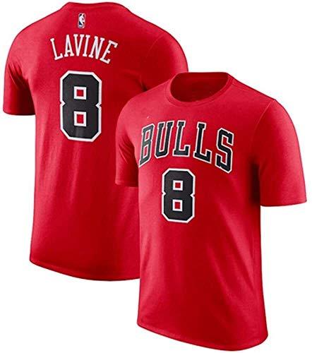 DHFDHD Jersey de Baloncesto NBA Bulls de Baloncesto de Manga Corta de la Camiseta del Estudiante Masculino Flojo Deportes Que Basa la Camisa del Entrenamiento Traje Camiseta de Baloncesto