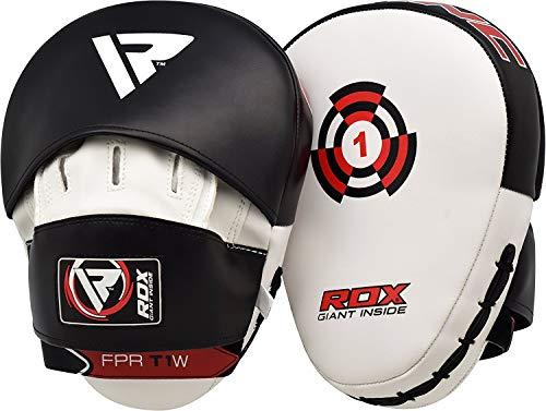 RDX Pelle Maya Hide Coppia Colpitori Scudo Sciopero Gancio Jab Pastiglie Boxe Thai Pao MMA Arti Marziali Allenamento
