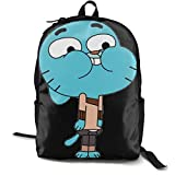 The Amazing World of Gumball Lightweight Teenager Backpack Black School Travel Shoulder Book Bag Daypack Bolso One Size