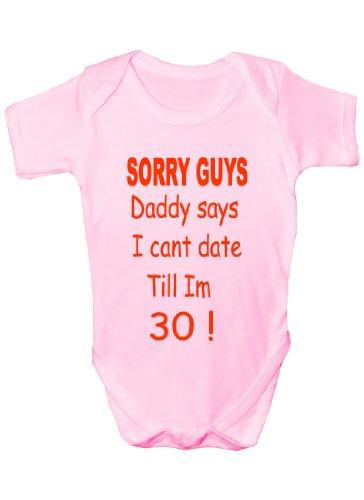 Body pour bébé avec inscription « Sorry Daddy Says » - Cadeau pour bébé garçon ou fille - Rose