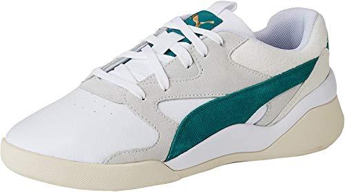 Puma Aeon Heritage Wn's', Scarpe da Ginnastica Donna, Bianco White-Teal Green, 36 EU