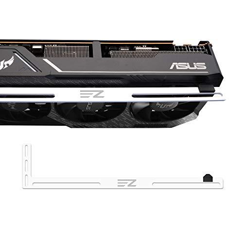 EZDIY-FAB Grafikkartenhalterung Mitarbeiter. EIN Grafikkartenhalter, GPU VGA-Klammer, für Benutzerdefinierte Desktop PC Gaming. EIN GPU Standgehäuse mod- 3mm Aluminium Weiß