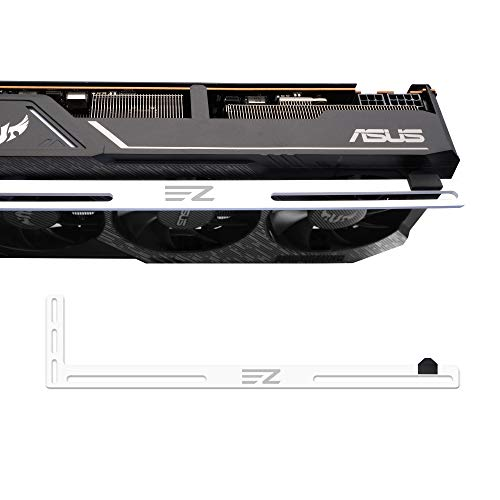 EZDIY-FAB Soporte de GPU, Soporte de Soporte de Tarjeta gráfica, Soporte de Tarjeta de Video, Soporte de GPU para PC de Escritorio Personalizado Gaming-3mm Aluminio-Blanco