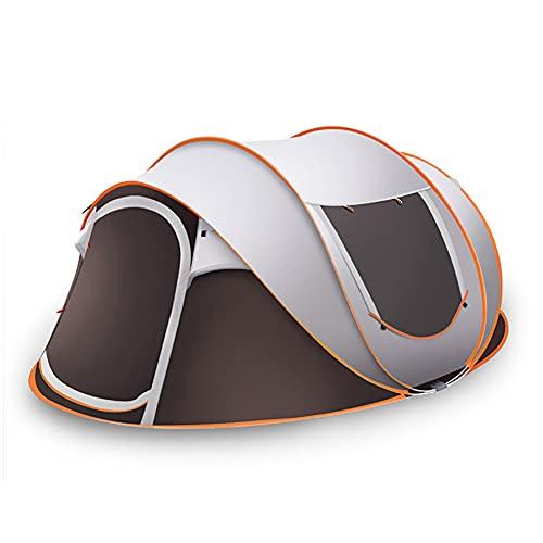 Tienda De Camping Familiar De Apertura Rápida Completamente Automática, Tienda De Rebote Exterior + Almohadilla A Prueba De Humedad, Adecuada Para 5-8 Personas De Campaña De Camping De Camping