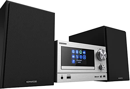 KENWOOD M-7000S-S - Microcadena Color Plata, con Bluetooth, USB, CD y en Radio Dab + o FM
