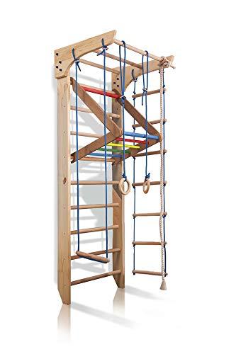 Kletterwand Sprossenwand Turnwand Kinder-4-220-Farbe Fitness Sportgerät Klettergerüst Holz