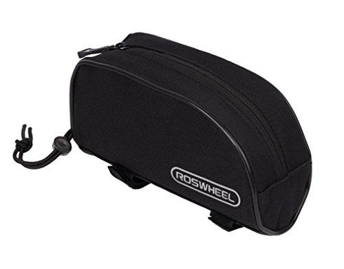 Roswheel 12654 Bike Frame Bag Bicycle Top Tube Pannier Cycling Accessories Pack, Black