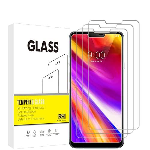 für LG G7 ThinQisplayschutzfolie, VuciyaGehärtetes Glas Schutzfolie, 9H Härte,Kratzfest,Blasenfrei, 3 Stück,für LG G7 ThinQ