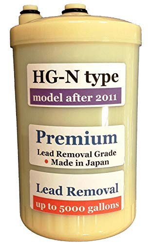 Japan Made HG-N Type Premium Grade Lead Removal Compatible Alkaline Water Filter (Not Compatible with Original HG Type Model Sold Before 2010)