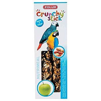 Zolux Crunchy Stick Friandise pour Perroquet Cacahuète/Pomme 115 g