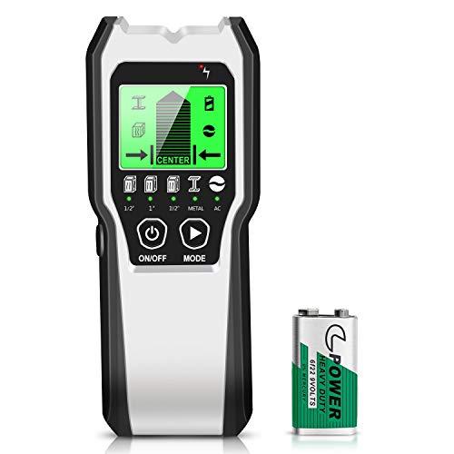 Localizador 5 en 1 multifunción, escáner de pared con pantalla LCD HD...