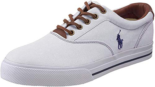 Polo Ralph Lauren Men's Vaughn Fashion Sneaker, White, 10 D US