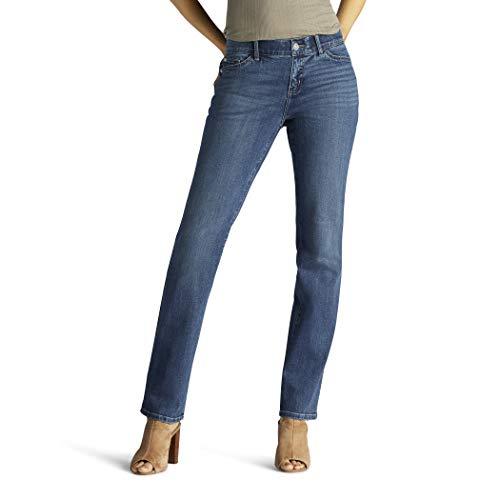 Lee Women's Flex Motion Regular Fit Straight Leg Jean, Rayne, 6 Petite
