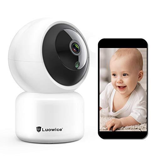 WLAN IP Kamera 1080P, Luowice HD WiFi Überwachungskamera,mit 355°/90°Schwenkbar, Baby Monitor mit Bewegungserkennung, Zwei-Wege-Audio, Nachtsicht, unterstützt Fernalarm und Mobile App Kontrolle