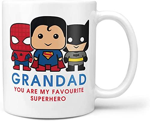 Taza con texto en inglés 'Grandad You are My Superhero', regalo para abuelo, Superman Spiderman Batman regalo de cumpleaños